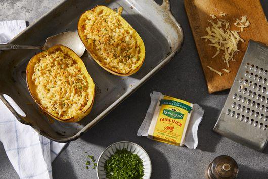 Cheesy Twice-Baked Spaghetti Squash