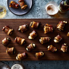 Bacon Wrapped Dates by Hazel
