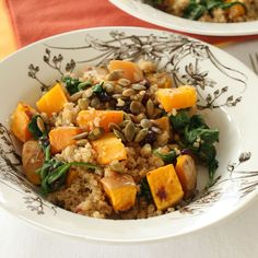 Quinoa with Butternut Squash and Pumpkin Seeds