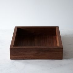 Walnut Fruit Square Box