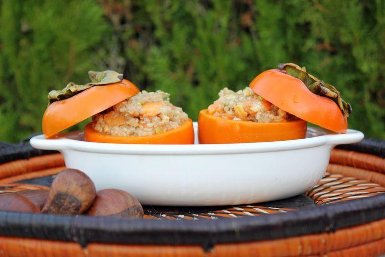 Oven Roasted Stuffed Persimmons (Vegan + Gluten Free)