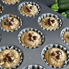 Healthier Chocolate Chip Zucchini Muffins
