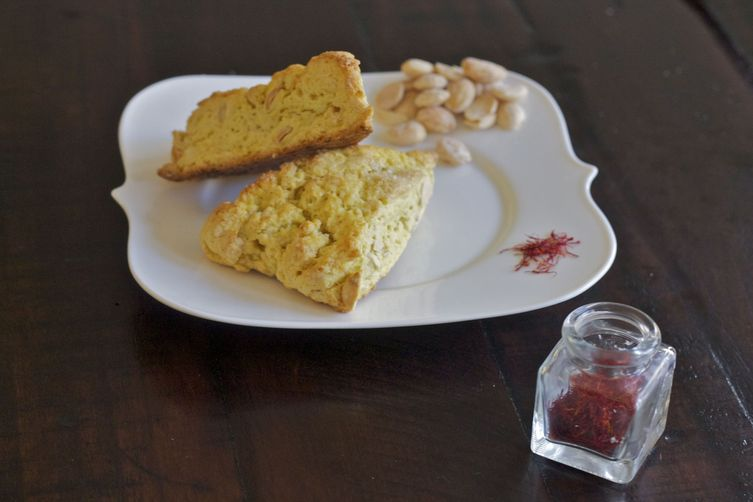Saffron Scones with Marcona Almonds