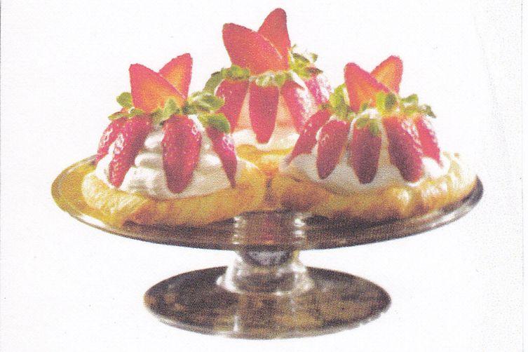 White Chocolate-Strawberry Cream Twists.