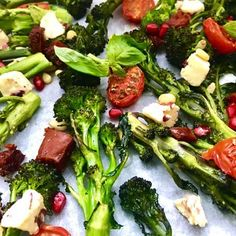 Paleo Oven-Roasted Tenderstem Broccoli Salad