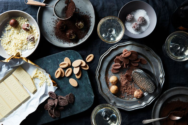 Chocolate truffles for the New Year's win.
