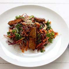 Tempeh, Cabbage, and Kelp Noodle Salad