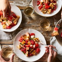 Bruschetta + Caprese + Panzanella Meet in One Simple, Glorious Salad