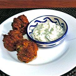 Merguez Meatballs with Minted Yogurt Dipping Sauce