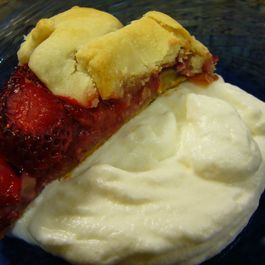Strawberry Tartine with Cheesecaked Whipped Cream