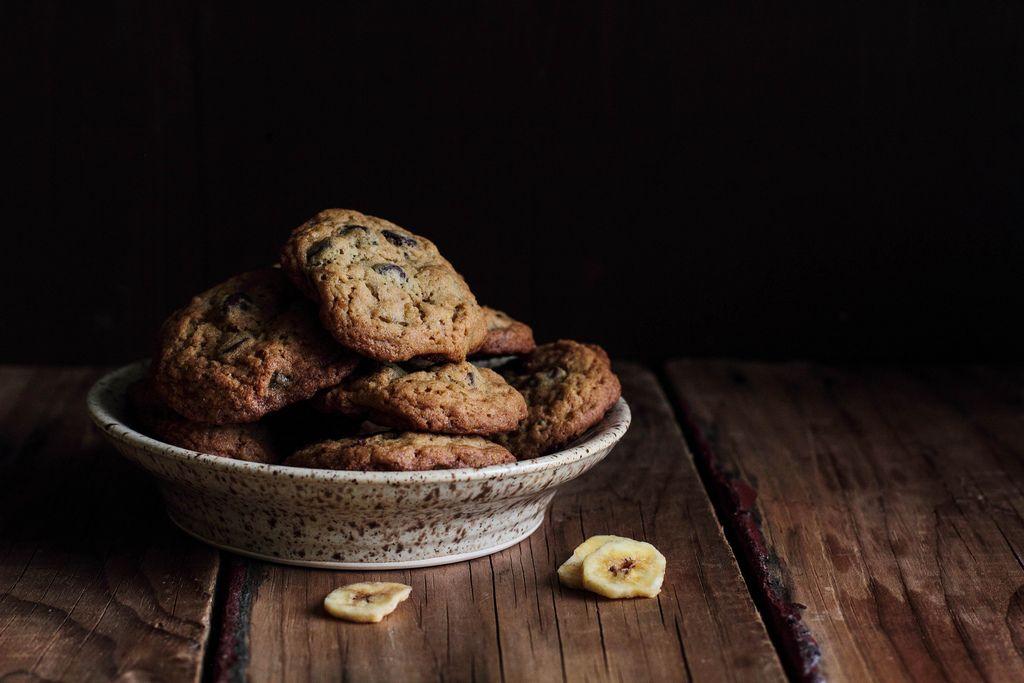 Chocolate Banana Chip Cookies