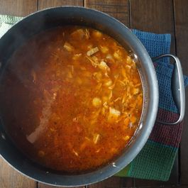 Red Chile Chicken and Hominy Soup