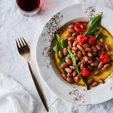 Borlotti Beans with Sweet & Sour Agrodolce Sauce