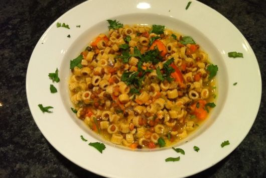Hearty Lentil Soup with Sweet Potatoes