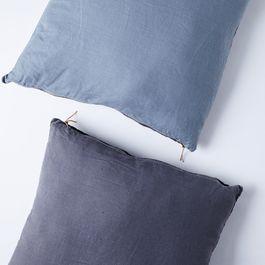 Color-Blocked Linen Floor Pillow