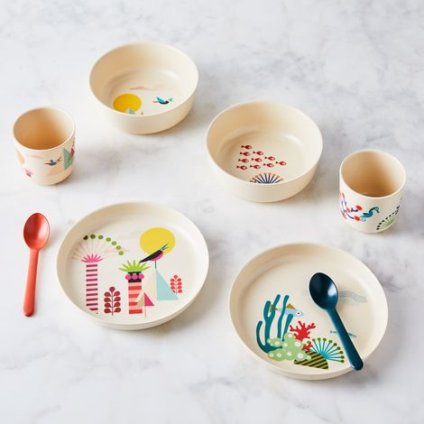 Recycled Bamboo Kids Dinnerware Set