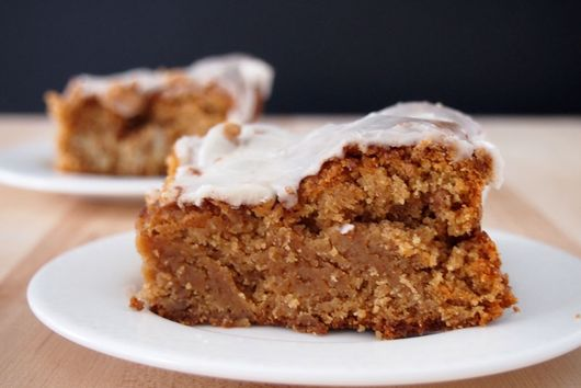 Glazed Snickerdoodle Bars with Walnuts