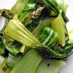 Baby Bok Choy with Garlic & Ginger