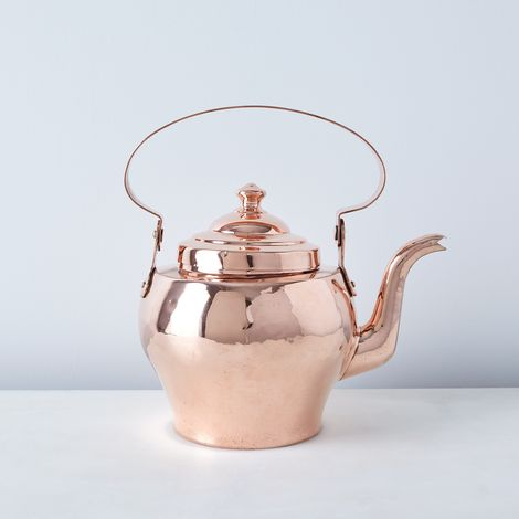 Vintage Copper French Tea Kettle, Late 19th Century