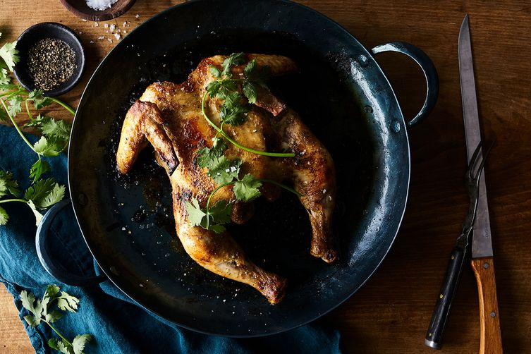 Roasted Butterflied Chicken With Cardamom And Yogurt Recipe On Food52