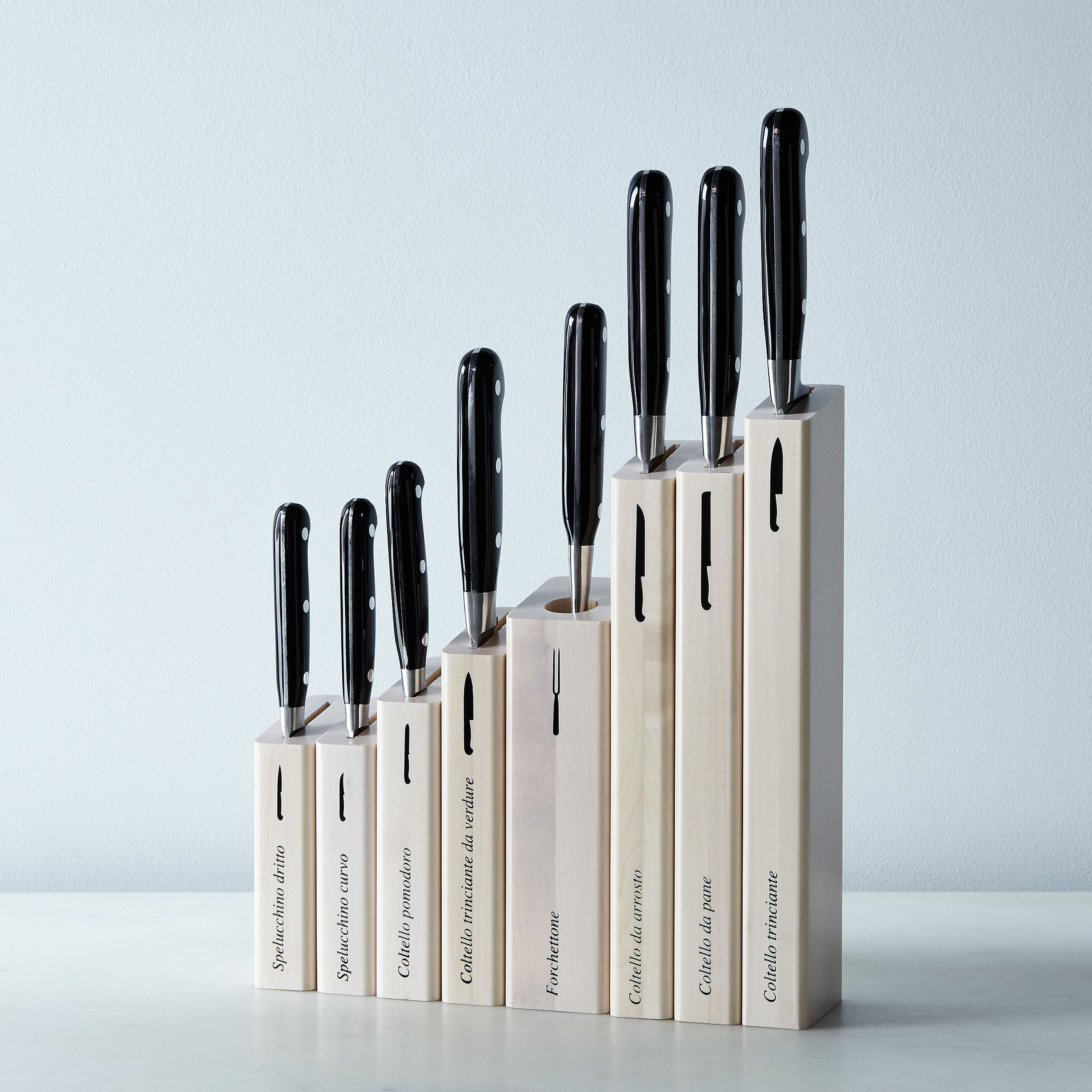 Berti Black Handled Italian Kitchen Knives On Food52