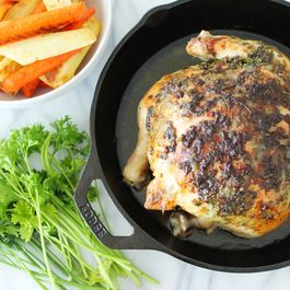 Whole Roasted Skillet Chicken