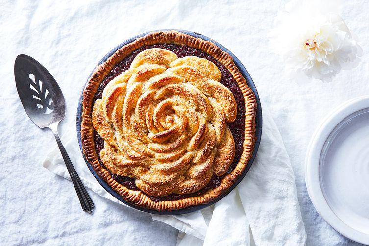 "Triple Berry ""Rose"" Pie"