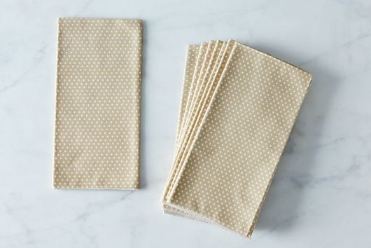 Tan Dots Cotton Napkins (Set of 4)
