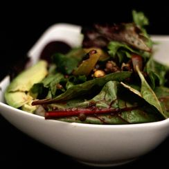 Mixed Green Salad with Homemade Dijon Balsamic Dressing