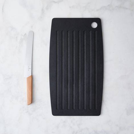 Matte Black Bread Board & Knife Set