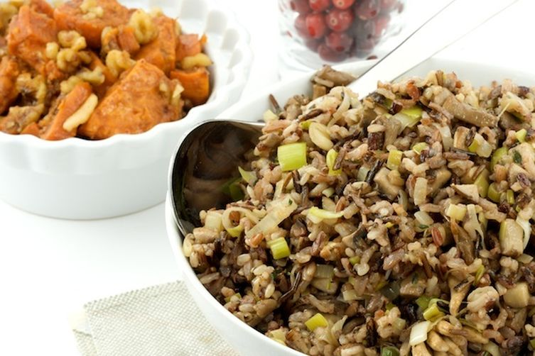 Leek and Mushroom Wild Rice