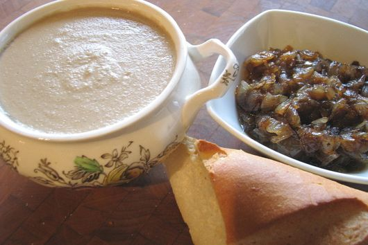 Apple Brandy Chicken Liver Mousse with Balsamic Onions