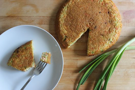 Quinoa and Salmon Breakfast Torte