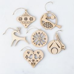 Laser-Cut Maple Scandinavian Ornaments