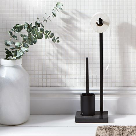 Modern Black Toilet Brush & Bathroom Accessories