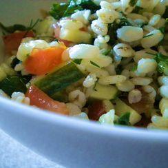 Herbed Barley Salad with Baby Kale