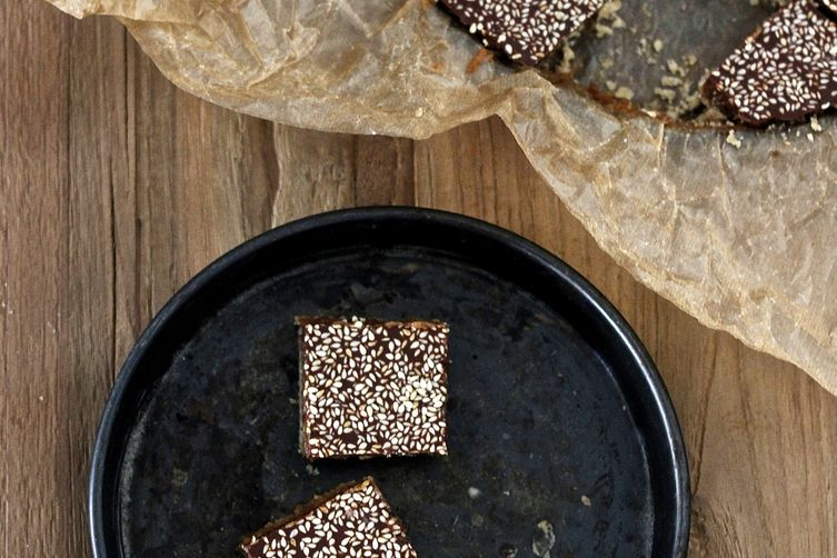 Tahini and Date Caramel Shortbread