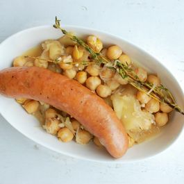 Sausage with Apples and Garbanzos