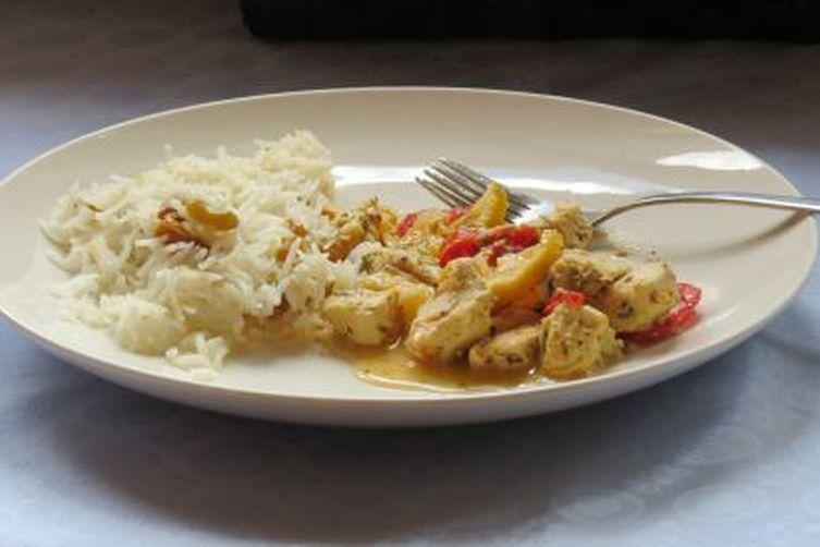 Mediterranean chicken with Dijon mustard, tomato and lemon