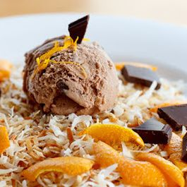 Toasted Coconut, Orange, & Dark Chocolate Ice Cream
