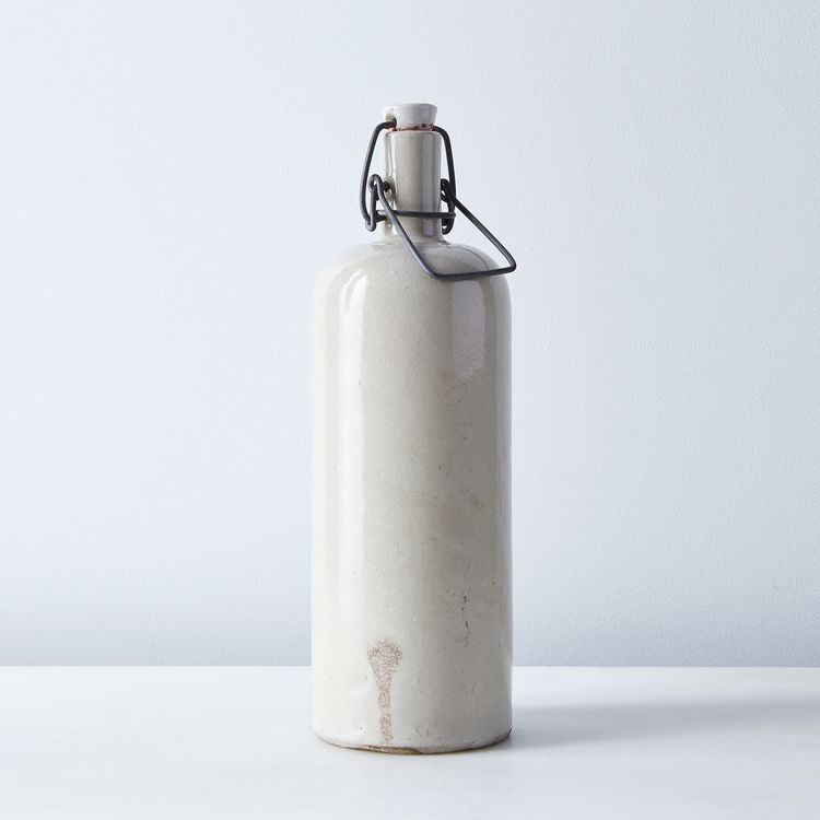 Vintage French Stoneware Bottle with Stopper