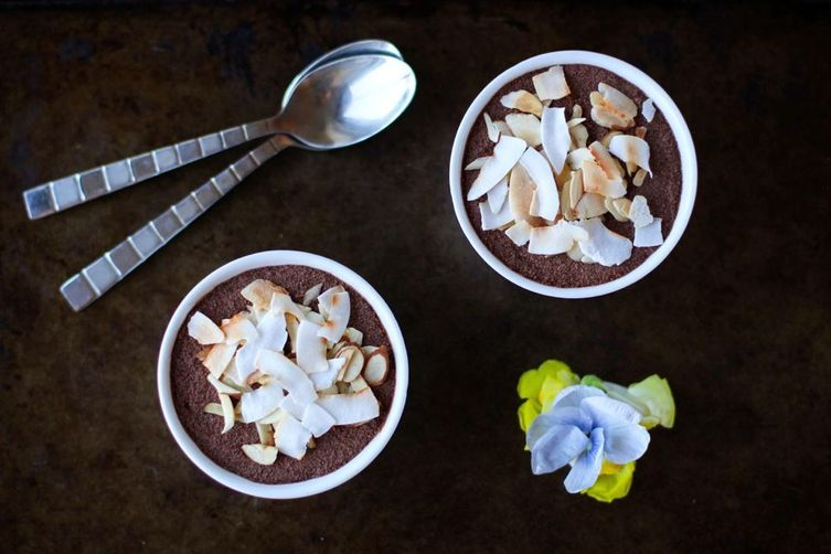Chocolate & Coconut Chia Seed Mousse