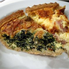 Spinach or Ham Quiche