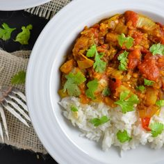 Baingan Bharta with Rice