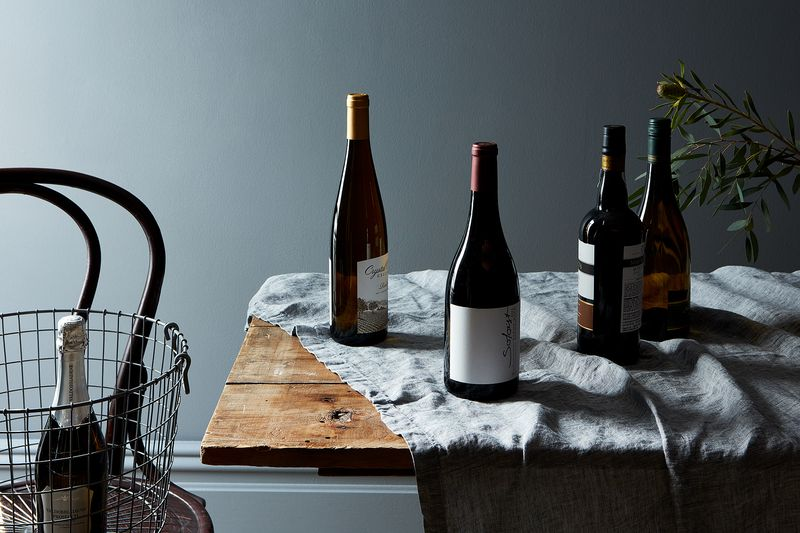 The case for investing in a case of wine (these bottles are from ALDI) for the holidays.