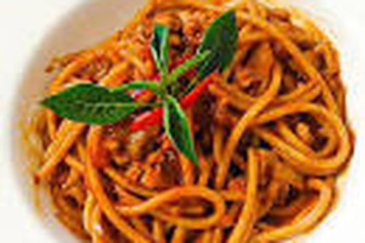 Spaghetti with Vegetable cooked in Tomato Sauce