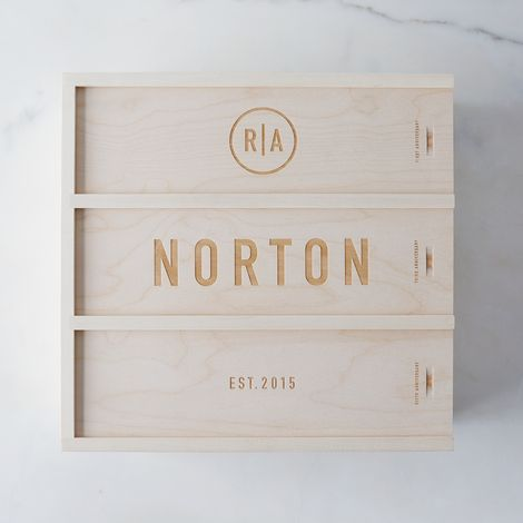 Personalized Wedding Wine Box