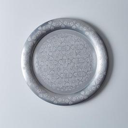 Vintage Moroccan Aluminum Platter