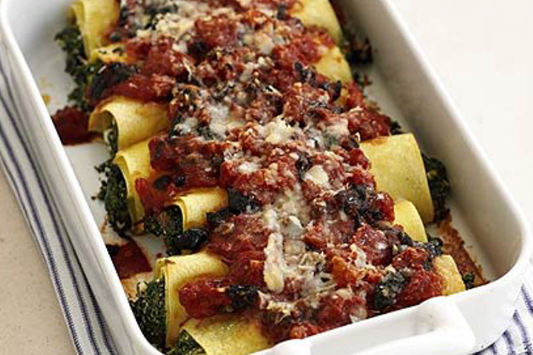 Spinach & feta cannelloni -Food Network