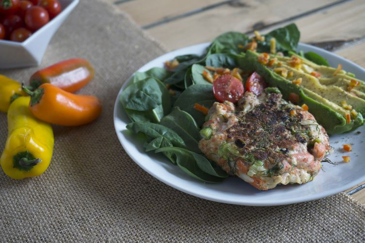 Wild Salmon, Halloumi & Dill Burger Recipe on Food52